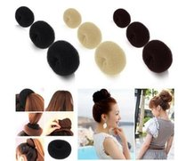 Bande De Cheveu Pas Cher-2017 Hot Selling Hair Rubber Bands Cheveux volumisant Scrunchie Donut Ring Style Bun Scrunchy Chaussette Poof Bump It Snooki DHL FEDEX Livraison gratuite