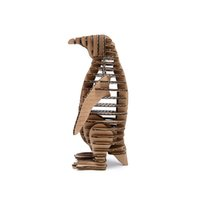 Wholesale Art Cardboard - Wholesale- 3d Puzzle Penguin Model Paper Craft Kids DIY Cardboard Animal Papercraft Art Educational Toys Puzzles Games Cute Children Gift