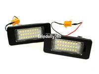 Wholesale Vw Passat Headlights - 2x18 SMD LED LICENSE PLATE LIGHTS LAMP FOR VW JETTA MK6   PASSAT B7 NMS   TOUAREG 2