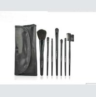 Wholesale makeup brush set leather pouch resale online - New Best price Makeup Professional Brushes Pieces Brush Sets Leather Pouch