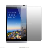"""Wholesale Screen Guard Retail Pack - Wholesale- New Clear Lcd Screen Protector guard film for 8"""" Huawei MediaPad M1 8.0 Tablet with retail package 2Pcs pack"""