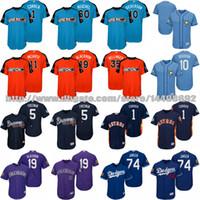 Wholesale Orange Bay - S-5XL Men Womens Kids Atlanta Braves Los Angeles Dodgers Colorado Rockies Houston Astros Tampa Bay Rays 2017 All Star Spring Training Jersey