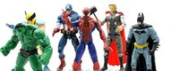 Wholesale Giant Spider Man - Avengers Alliance 2 Green Giant Spider man, iron man, American captain, 6 toy doll suits
