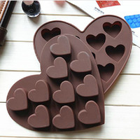 Wholesale Heart shaped Chocolate Silicone Mold Candy Mold Ice Baking Mould Heart Shape Moulds Dishwasher Safe Kitchen Accessaries