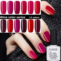 Wholesale Long Red Nails - Nail Polish 10ml Wine Red Series Nail Gel Polishes Bobbi Cutex Phototherapy Long-lasting UV Manicure Polish Wholesale Free Shipping 0060MU