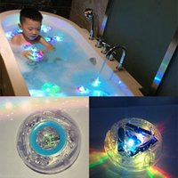 Wholesale Novelty Led Light Bathroom - Wholesale- Cute mini Colorful Bathroom LED Pool Light Kids toys Waterproof novelty Flashing toy baby Bath Shower Nightlight For Children