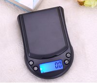 Wholesale mini digital scales wholesale - Portable Balance Cuisine Jewelry Scales 200g [0.01g Sensitivity] Backlit LCD Display Digital Pocket Scale Mini Electronic Scale Grams