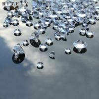 ingrosso dispersione della tabella dei cristalli del diamante di cerimonia nuziale-Oltre 2600 pezzi misti 3 formati (4 mm / 8 mm / 10 mm) Clear Diamond Wedding Decoration Confetti Table Scatter cristalli