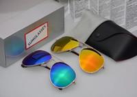 Wholesale Glasses Aviator Box - Hot Sale AAA quality Aviator Sunglasses zx Vintage Pilot Brand Sun Glasses Band Polarized UV400 v Men Women Glass Lenses With box