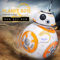 Wholesale Small Plastic Robot Toy - Star Wars RC BB-8 Robot Star Wars 2.4G remote control robot intelligent small ball Action Figure Toys Christmas Gift