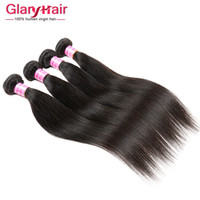 Brazilian Straight Virgin Human Hair Weave Bundles 4ps Brazilian Mink Weft Brazilian Cheap Remy Hair Extensions 8A Grade Livraison gratuite