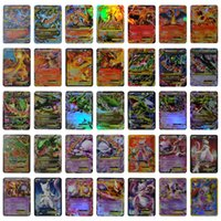 Wholesale Free Kids Toys - No Repeat English POKE GX Trading Card 35 Card 11 charizard 7basic and 4 Mega Cards EX Cards For TCG Cards Games KIDS TOY AS A GIFT Free