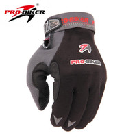 Wholesale wholesale long leather gloves - Wholesale- PRO-BIKER Motorcycle Riding Gloves Bike Bicycle Cycling Gloves Breathable Motocross Off-Road Racing Long Finger Guantes Luvas