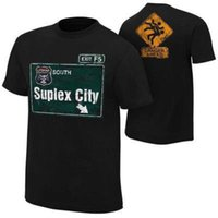 Wholesale Wrestling Shirts - Brand Clothing Wrestling Suplex City Roman Reigns Men's T-Shirt Cotton Hip Hop Short Shirt Cena Dean Ambrose Da Tee