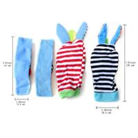 Wholesale Cat Baby Rattle - (1set=4pcs=2 pcs waist+2 pcs socks )Bright Baby Infant Kids Soft Wrist foot socks Rattle Hands Foots finder toy