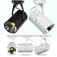 Wholesale Track Mounted Led Spotlights - 15W 18W 24W 30W COB LED track lighting can be adjusted surface mounted downlights AC85-260v Backdrop spotlights CE UL