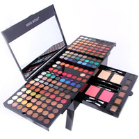 Wholesale Miss Rose Palette - Wholesale- MISS ROSE 180 Colors Eye Shadow 2 Powder 2 Blusher 6 Eyebrow Makeup Set Shimmer & Matte Women Make up Palette free shipping