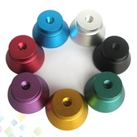 Wholesale Electronic Cigarette Display Stands - Colorful Atomizer Stand Electronic Cigarette Display Metal Base e-cigarettes holder Atomizer Display Stand with 510 thread DHL Free