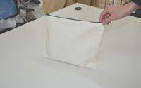 capas brancas de telefone branco venda por atacado-30 * 24 cm branco de algodão lona de cosméticos sacos de mulheres DIY em branco planície zíper saco de maquiagem saco de embreagem do telefone presente organizador casos