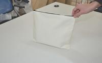 Wholesale plain white phone cases for sale – best 30 cm White cotton canvas cosmetic bags DIY women blank plain zipper makeup bag phone clutch bag Gift organizer cases