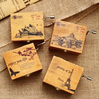 Wholesale Hand Glass Ornaments - 2014 new British style hand wooden music box special offer creative gifts hot scenic ornaments