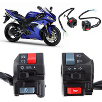 2pcs Universal 7 / 8inch Motorcycle Handlebar Horn Turn Signal Light Controller Switch Switch à bouton-poussoir AUP_20K