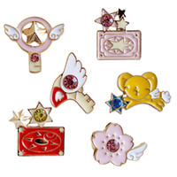 Wholesale Bird Wings - Wholesale- New bird head sticks of the stars of the cherry card Kuluo licensing wings cherry metal enamel brooch pin accessories wholesale