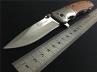 kurtarma bıçakları toptan satış-Browning DA51 Survival Katlanır bıçak 5Cr15 57HRC blade DA43 Açık Kamp yürüyüş Kurtarma Cep katlanır bıçak bıçaklar BM42 43 ücretsiz kargo