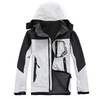 Wholesale White Fur Hooded Ski Jacket - Wholesale- Men High Quality skis Jacket Brand Warm Coat Hoodie Waterproof with Fur Outdoorwear Thick Windproof Jackets White Black Blue Red