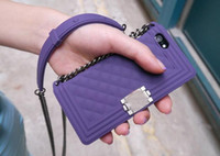 Wholesale goophone 5s - 3D Silicone with chain boy bag case for iPhone Plus s plus goophone i7 plus s SE