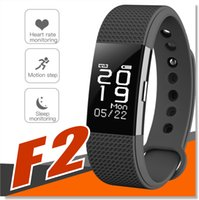 Wholesale f2 for sale - Group buy F2 Smart bracelet activity Fitness tracker heart rate monitor Sport smart band wristband pedometer Waterproof IP67 For Smartphone