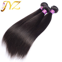 Wholesale Cheap Brazilian Indian Hair - Virgin Human Hair Brazilian Straight Bundles 3pcs Peruvian Malaysian Indian Straight Hair Weaves Unprocessed Cheap Hair Extensions Straight