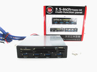 "Wholesale Front Panel Hub - Wholesale- 3.5"" Floppy Front Panel 4 X USB 3.0 Hub 6 Slot Card Reader for Desktop PC"