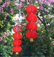 lanternes à cordes rouges achat en gros de-Événement Fête Fête Fournitures Lanternes à lanières Série en soie de Lanternes publicitaires chaîne de décoration de festival rouge Festi
