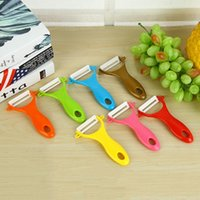 Wholesale Small Ceramic Fruit - Peeler Tool Kitchen Small Ceramic Peeling Knife Multi Functional Hanging Peels Fruit Planing Vegetable U Type Peeler Dining Bar 2017