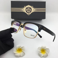 Wholesale Titanium Glasses Frames For Men - Luxury fashion brand glasses frame D T statesment half frame plate optical frame for men casual style top quality with original box