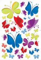Wholesale butterfly wallpaper for walls designs resale online - 60 CM PVC Butterfly Wall Stickers Art Decal Removeable Wallpaper Mural Sticker for Kids Room Bedroom Girls Living Room Adhesive