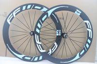 mavi karbonlu yol bisiklet tekerlekleri toptan satış-Ultra hafif mavi çıkartma FFWD F6R 60mm bisiklet tekerlek 700c Karbon yol yarış tekerlekleri yol bisikleti bisiklet tekerlek ücretsiz kargo