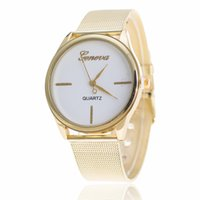 Wholesale Order Articles - free shipping new high-grade Ms FashionGolden mesh belt watches sell like hot cakes Ms fashion article grid order watches Geneva watches