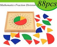 matematik oyuncakları toptan satış-Bebek Oyuncakları Dairesel Matematik Kesir Bölümü Öğretim Yardımcıları Montessori Kurulu Ahşap Oyuncaklar Çocuk Eğitim Hediye Matematik Oyuncak