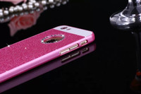 Wholesale Diamond Acrylic Powder - 6plus acrylic round hole flash powder diamond phone case