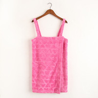 Wholesale Sexy Girls Nightgown - 2017 New women Flannel Bathrobe nightgowns leisurewear Sleevesless thick Pink girl sexy bathrobe for summer #27