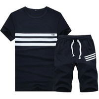 Wholesale Tracksuit Men Plus Size - Tracksuit New Summer Sport Suit Men Fashion Shorts Set Plus Size 4XL Gym Hoodies Hip Hop Sweatshirts Men Training Suit