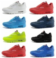 Wholesale Hyper X - Air 90 HYP PRM QS Men Women Running Shoes Air 90s Hyper fuse American Flag Black White Navy Blue Gold Silver X-A-M Sport Trainers