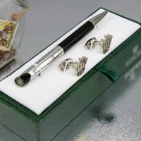 Wholesale Office Stationery Box - Luxury High quality Unique design rx pen stationery supplies Ballpoint Pen , cufflink , gift green box sets