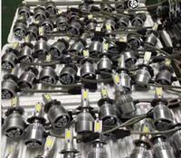 Wholesale Cree Led Turn Light - Free shipping 2pcs car 12V CREE Led Beam Replacement LED conversion kit DRL Fog Headlight Conversion kit Bulb H1 H7 9005 H9-H10-H11 9006