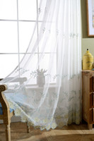 Wholesale Bead Curtains For Doors - Free Shipping Manual Sewing beads The little flower sheer curtains for living room Balcony Kitchen Drapes voile tulle curtain for windows