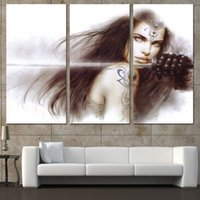 Wholesale modern girls abstract paint for sale - Group buy Luis Royo Art Girl Schwert Pieces Home Decor HD Printed Modern Art Painting on Canvas Unframed Framed