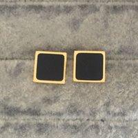 Wholesale Yellow Fashion Earrings - Large AAA+ cubic zircon letter stud Earrings yellow gold plated fashion wedding jewelry men women girls boys