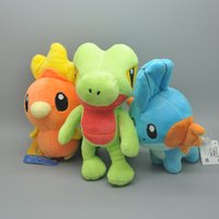 "Wholesale 18cm Plush - Hot New 3Pcs Lot 5.5""-7"" 14CM-18CM Mudkip Torchic Treecko Poke Doll Anime Stuffed Dolls Pocket Monsters Soft Best Gifts Plush Toys"